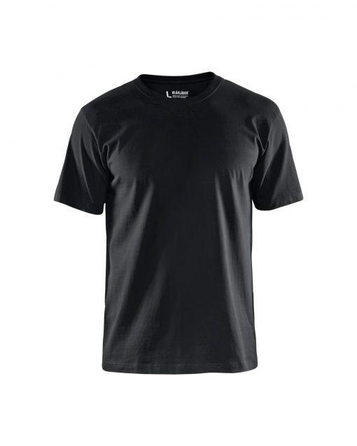 Skön t-shirt ribbstickad hals Förstärkt nack och axelsöm Tvånålssöm