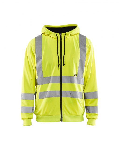 Blåkläder sweatshirt varseltröja reflexel syns maximal arbetskomfort passform