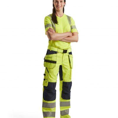 Dam varselbyxa. Byxa. arbetskläder Cordura Vattenavisande stretch Blåkläder Jolat
